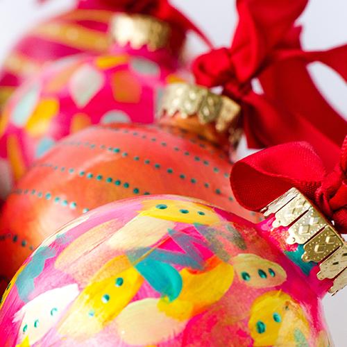 decorazioni di natale fai da te palline colorate